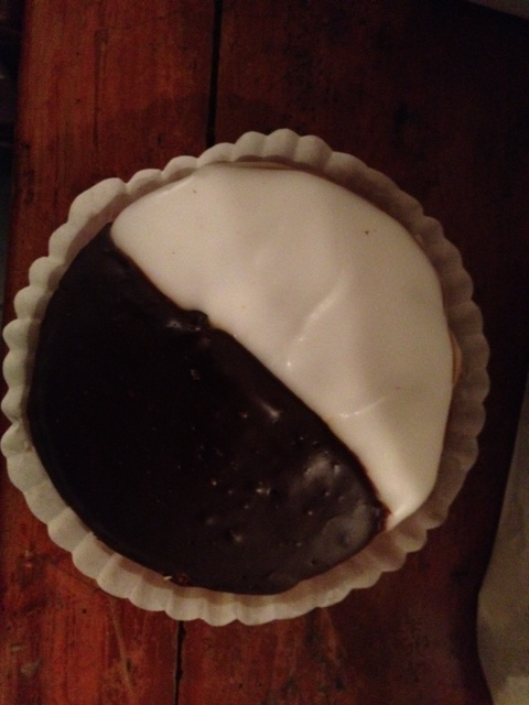Roccos Black and White Cookie